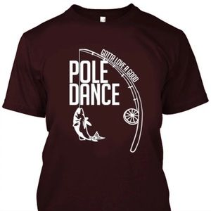 Funny pole since fishing shirt